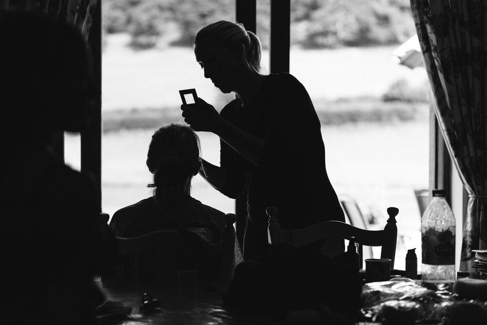 Steven Parry Photography / Bridal Preparation Silhouette