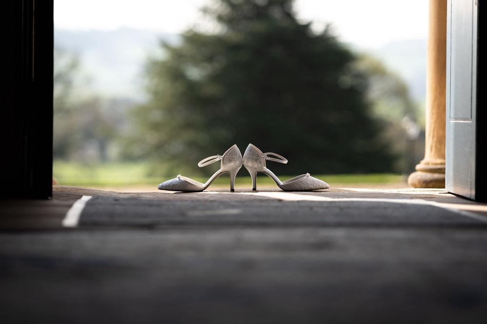 Steven Parry Photography / Brides Shoes / Garthmyl Hall
