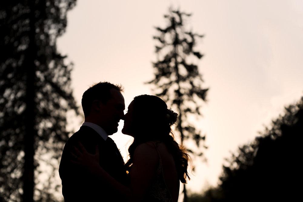 Steven Parry Photography / Bride & Groom Silhouette / Garthmyl Hall