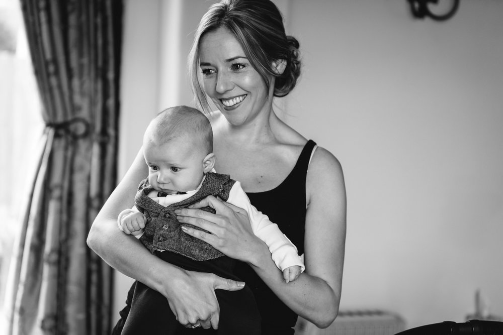 Steven Parry Photography / Bride and Son / Sugar Loaf Barn