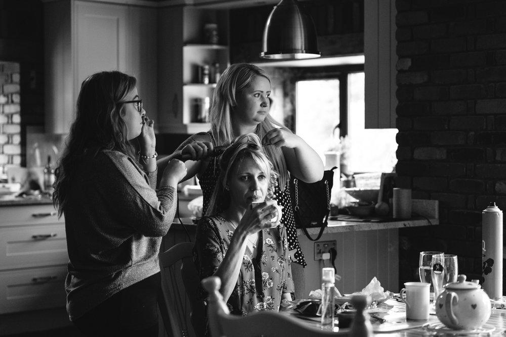 Steven Parry Photography / Wedding Hair Preparations