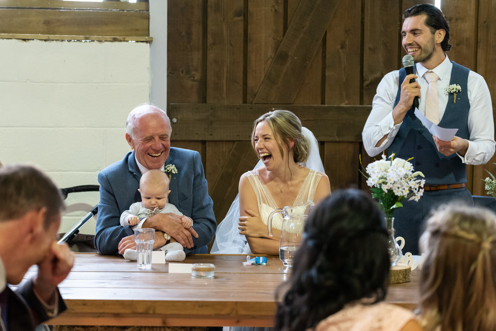 Steven Parry Photography / Bride Laughing at Speeches