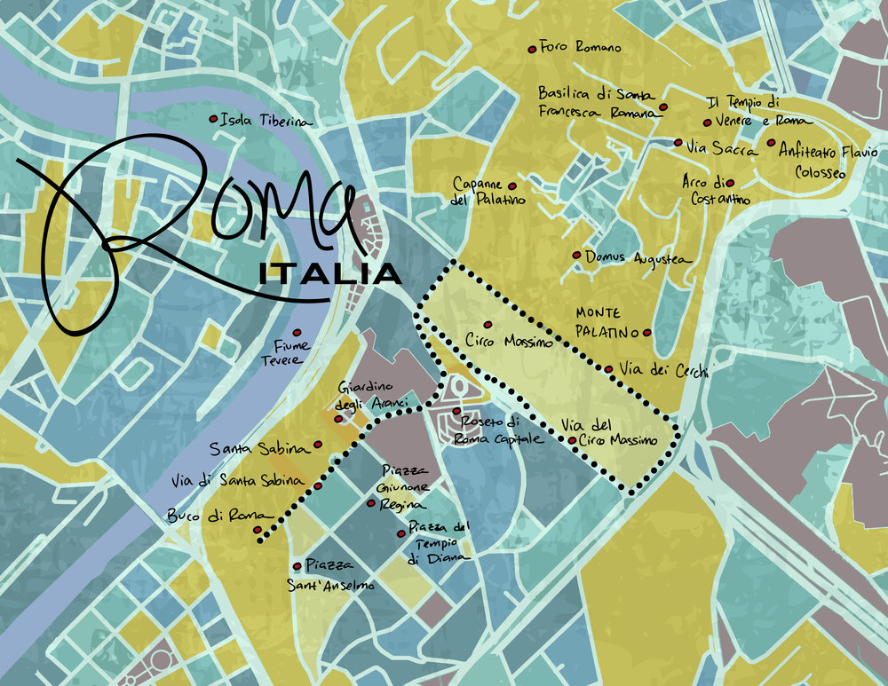 Personal History Map - Rome, Italy, 2015
