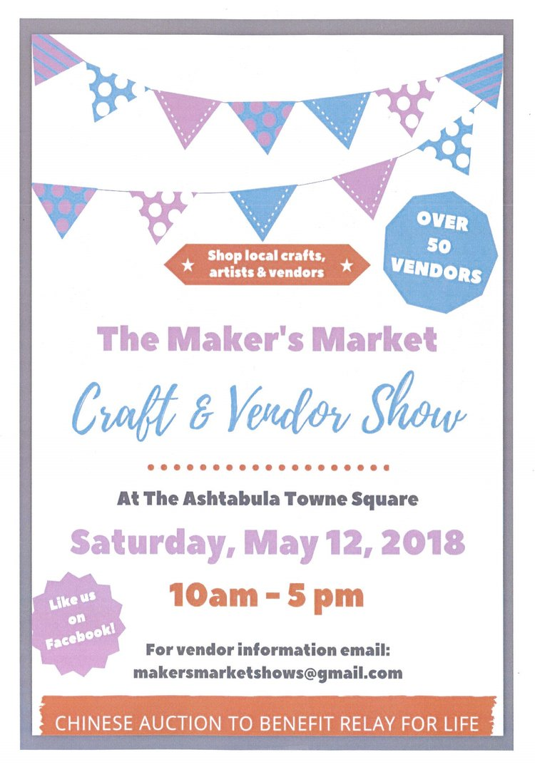 The makers market craft vendor show ashtabula towne square makers craft show 2018 jpegg stopboris Image collections