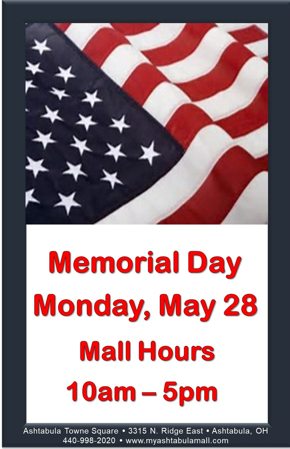 Happy Memorial Day Hours Poster Jpeg