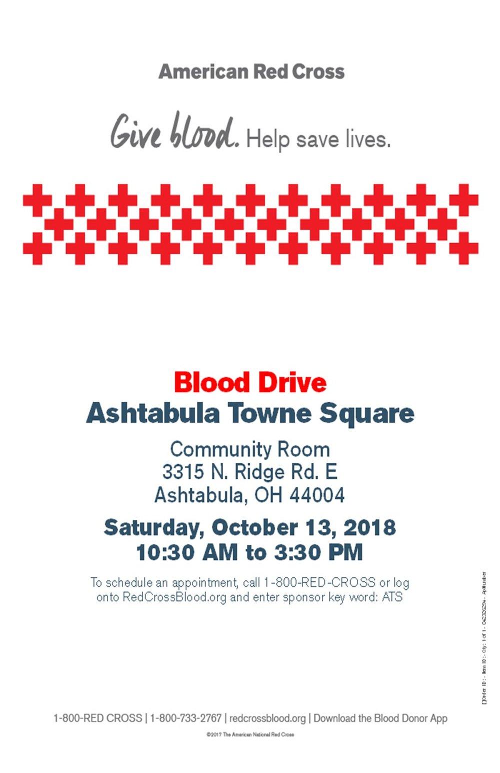 Blood Drive Oct  13 2018 poster JPeg.jpg