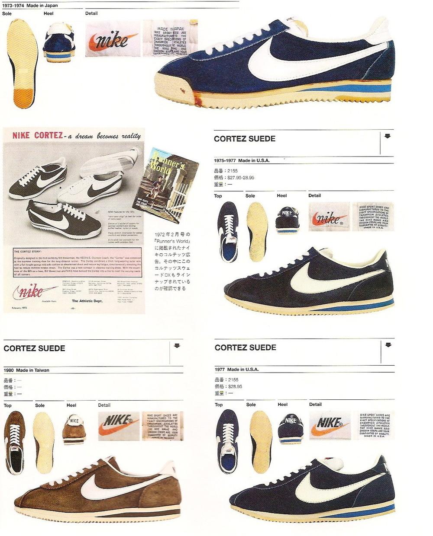 "The Nike Cortez ""Suede"" Series, 1973-1980 (source:  arkamix.com )"
