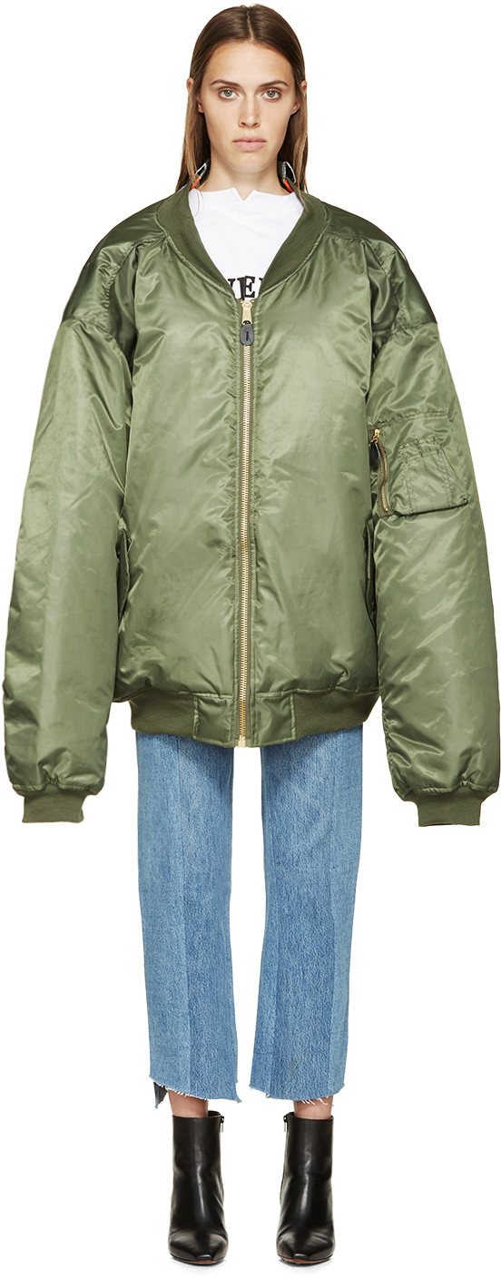 Vetements FW15 Green Reversible Bomber Jacket