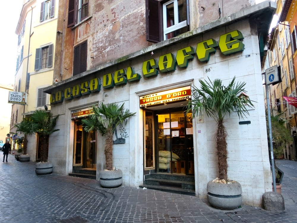 "The world-famous ""La Casa del Caffe"" Tazza d'Oro, Rome, Italy"