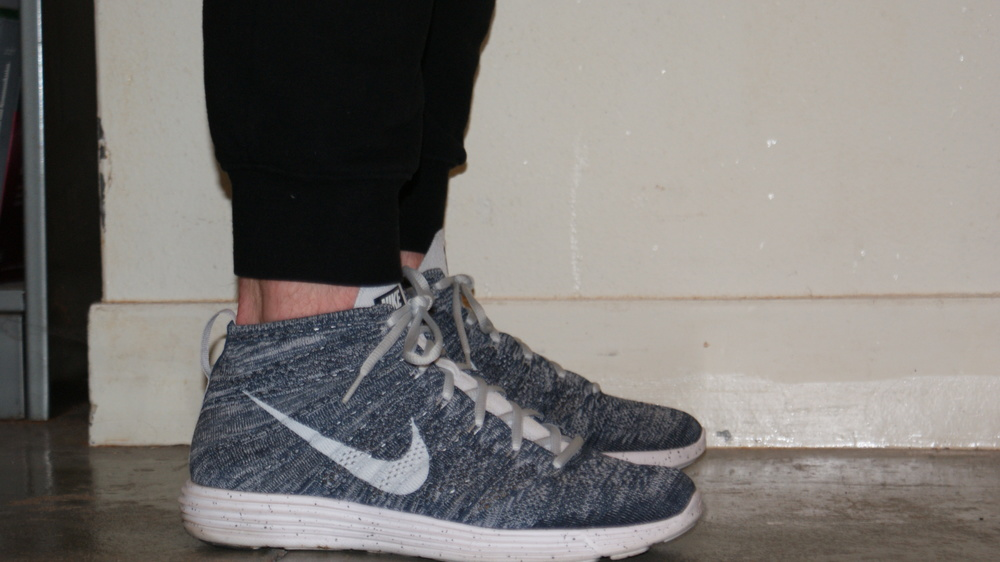 "Nike Lunar Flyknit Chukkas, a ""sportswear"" shoe that features the same functional technology as the Lunar 1's above but in a silhouette specifically designed not for athletics."