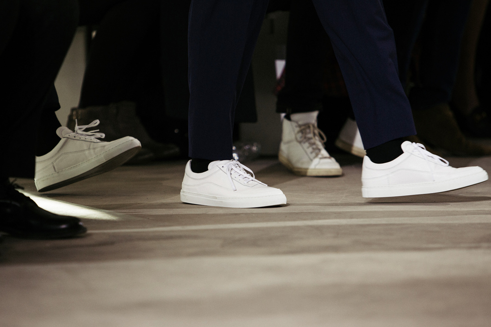 Sneakers on the fashion runway at a Public School show during NYFW:M