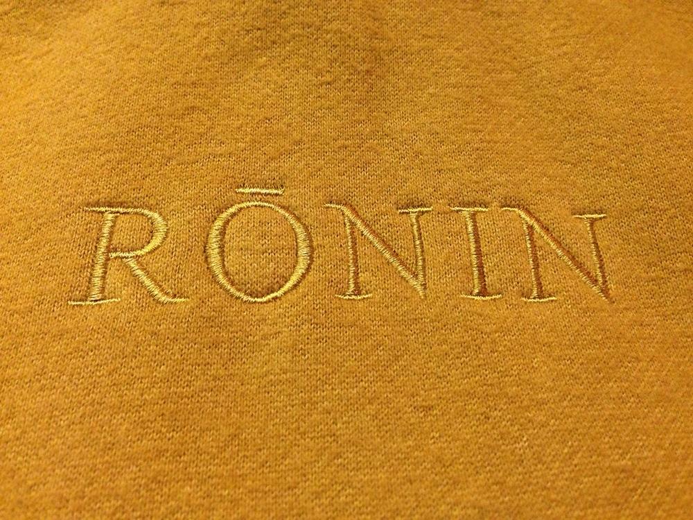Ronin hoodie detail