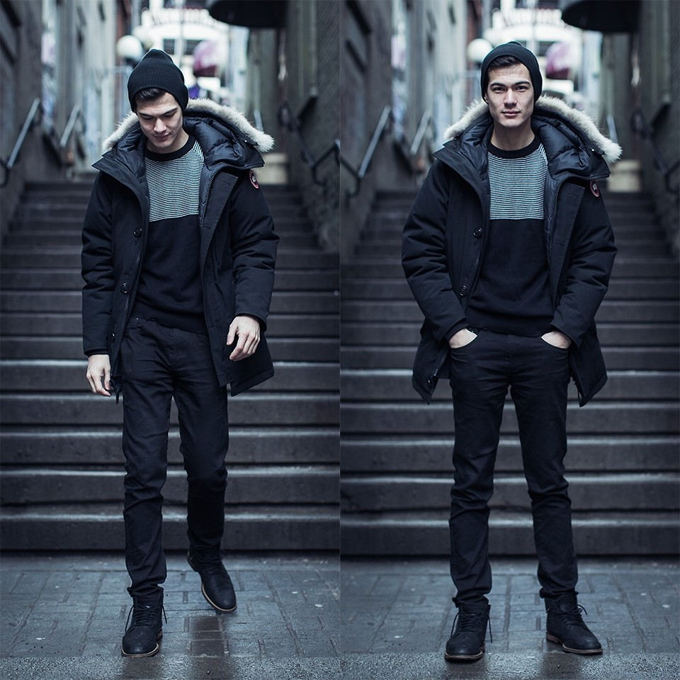Canada Goose Parka, Forever 21 sweater, Forever 21 jeans, Cole Haan boots (source)