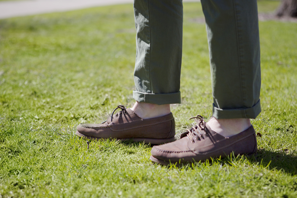 Shoe details: LL Bean Signature Jackman Blucher Mocs (photo credit: Christina Oh)