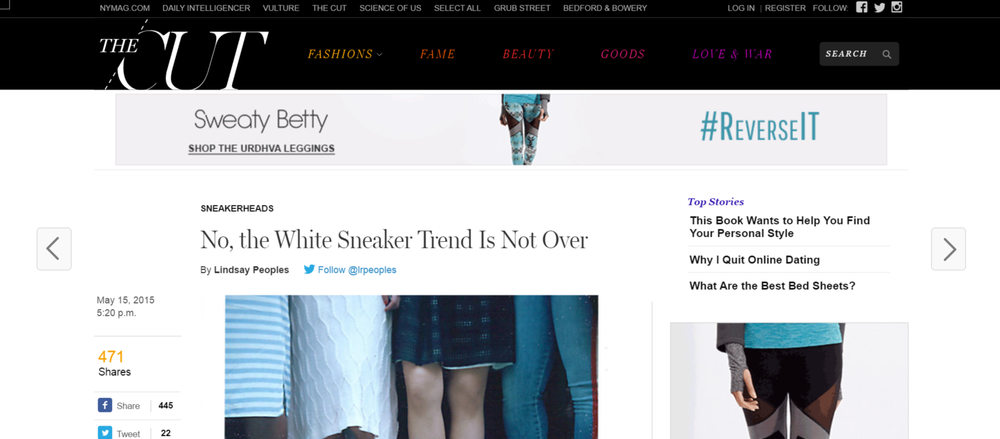 "This white sneaker trend piece was published one year ago today. Take one look at any city street from Ann Arbor to the Village, and you'll reach the same conclusion that  The Cut  did last May. At what point, then, does a trend not being over disqualify it as a ""trend""?"