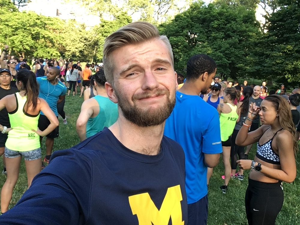 The only picture of me from the day where my shirt is visible. This pose was appropriately mocked in the Club Track GroupMe.