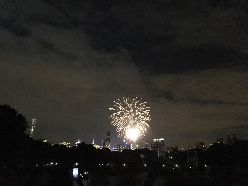 Fireworks over the NYC skyline after last night's show.