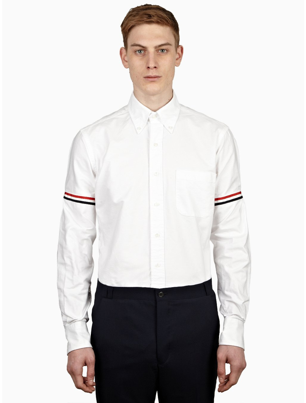 A Thom Browne oxford, arguably one of the best-made and expertly-fitted ready to wear shirts in the world.