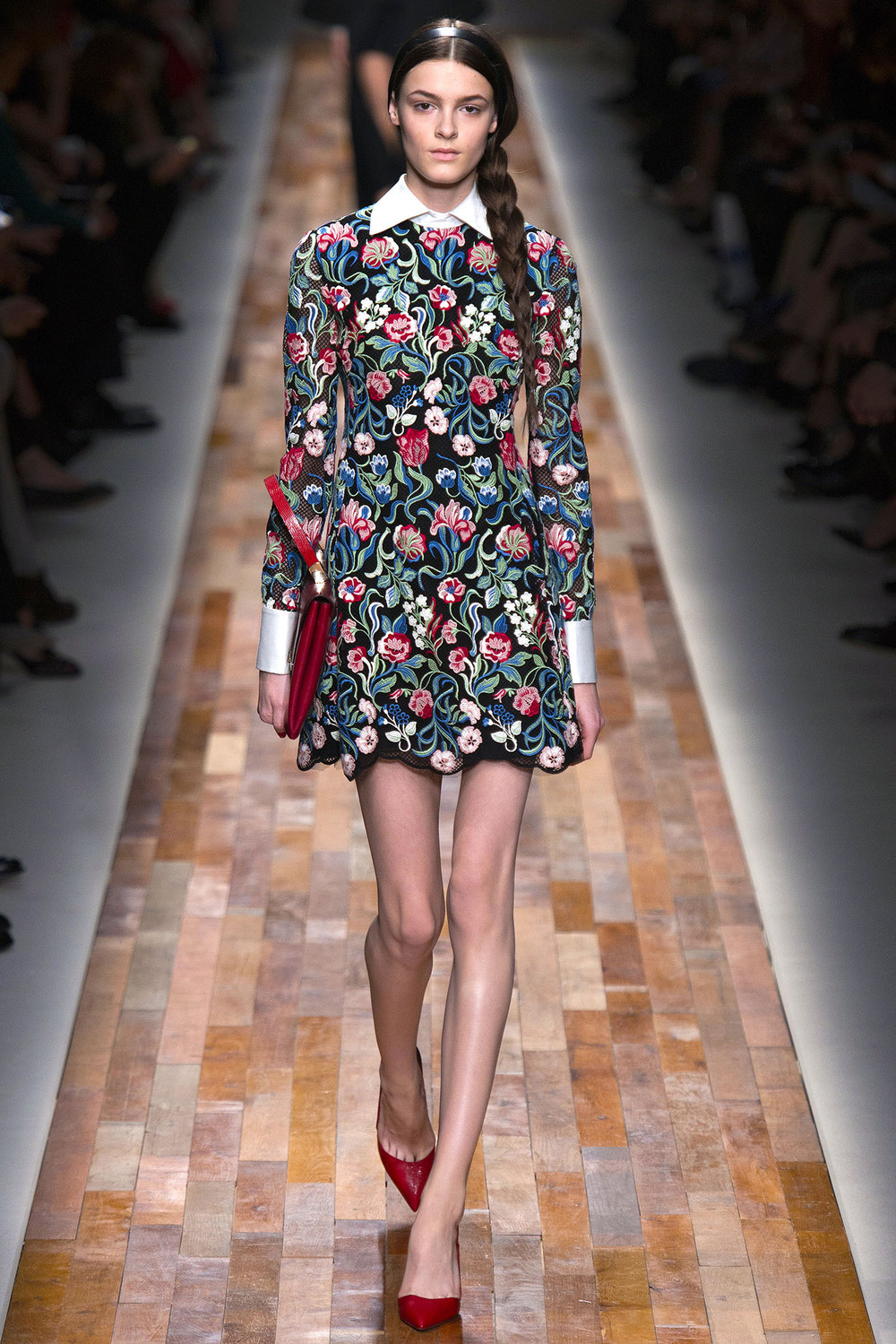 Smoother fabrics typically signal formality (Valentino FW 2014)