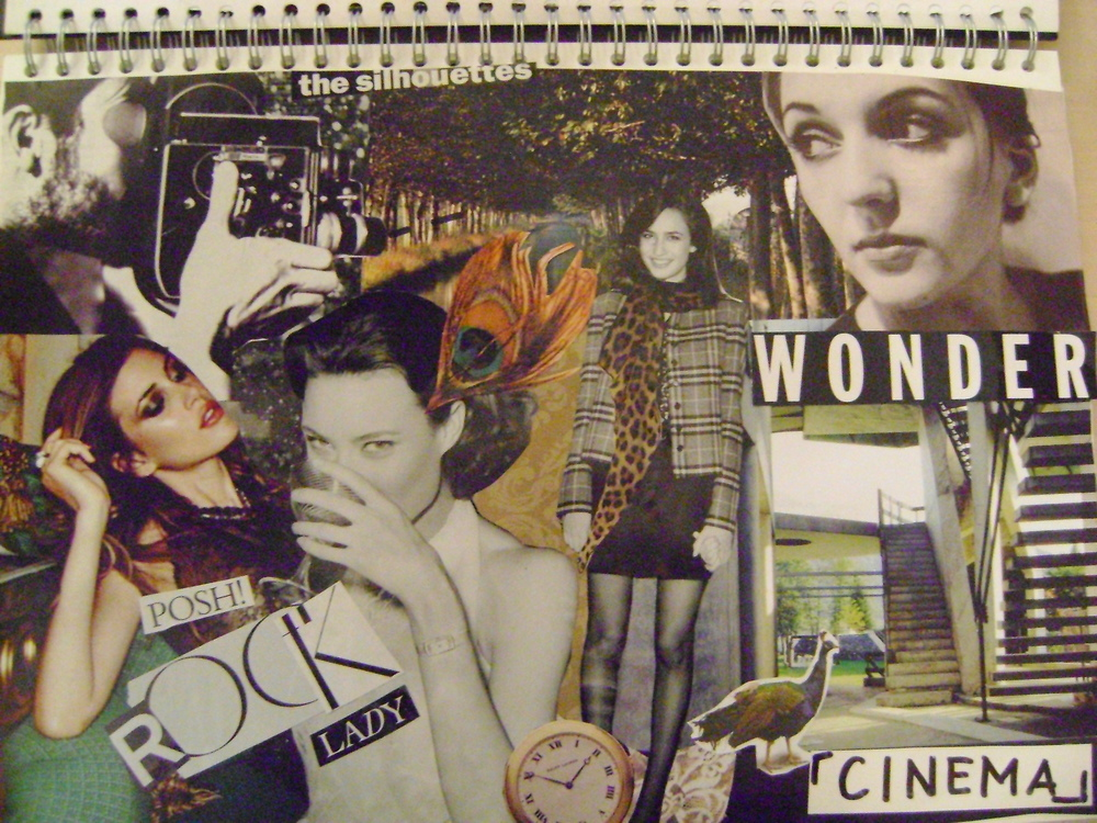 My favorite example of one such collage, built around vintage themes. I really like the pastiche look. (source: Catherine Yong)