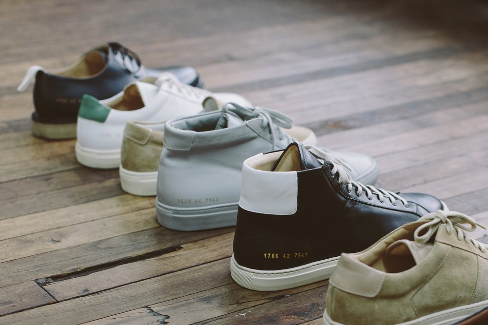 A selection of Common Projects shoes (photo: Justin Chung for  businessoffashion.com )