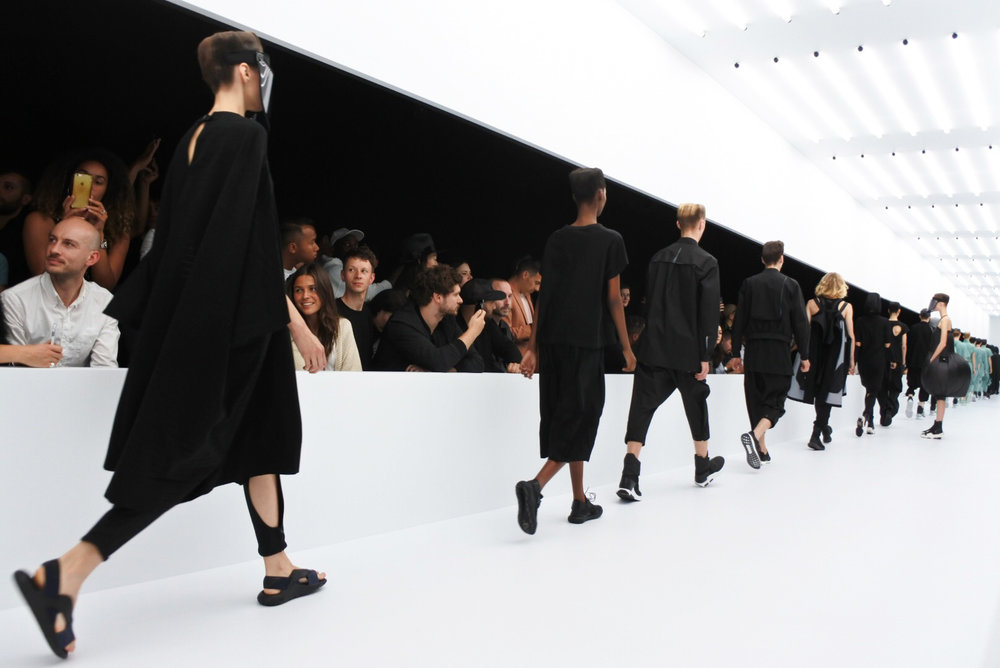 Y-3's Spring/Summer 2017 show in Paris, France