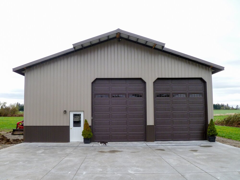 Garages and shops built by alvord richardson texmo pole for 30x60 pole barn