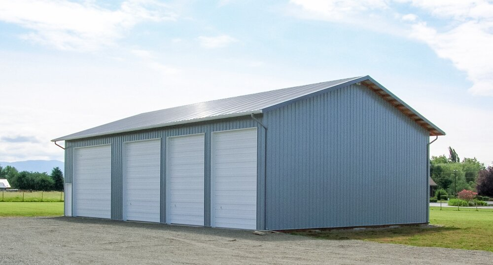 "40' x 60' x 16'-6"" Shop in Whatcom County   Shop #4   Serving Whatcom, Skagit, San Juan and Island Counties since 1965.  Give us a call for your free estimate today!"