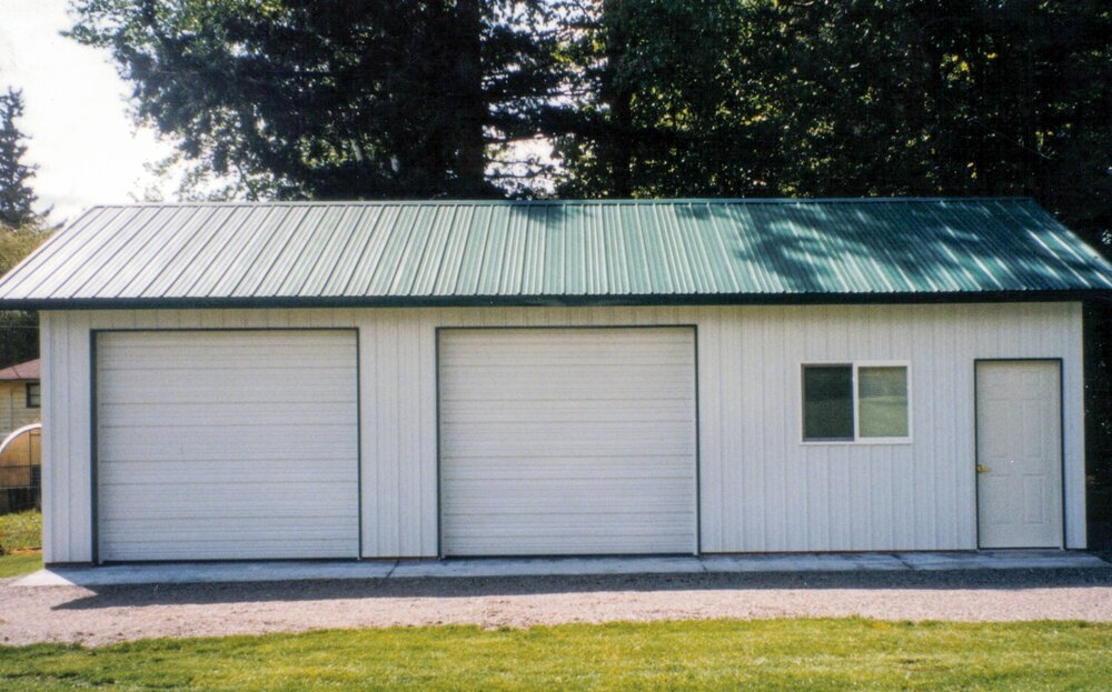 24' x 36' x 10' Two Car Garage with Shop Area   Shop #6   Serving Whatcom, Skagit, San Juan and Island Counties since 1965.  Give us a call for your free estimate today!