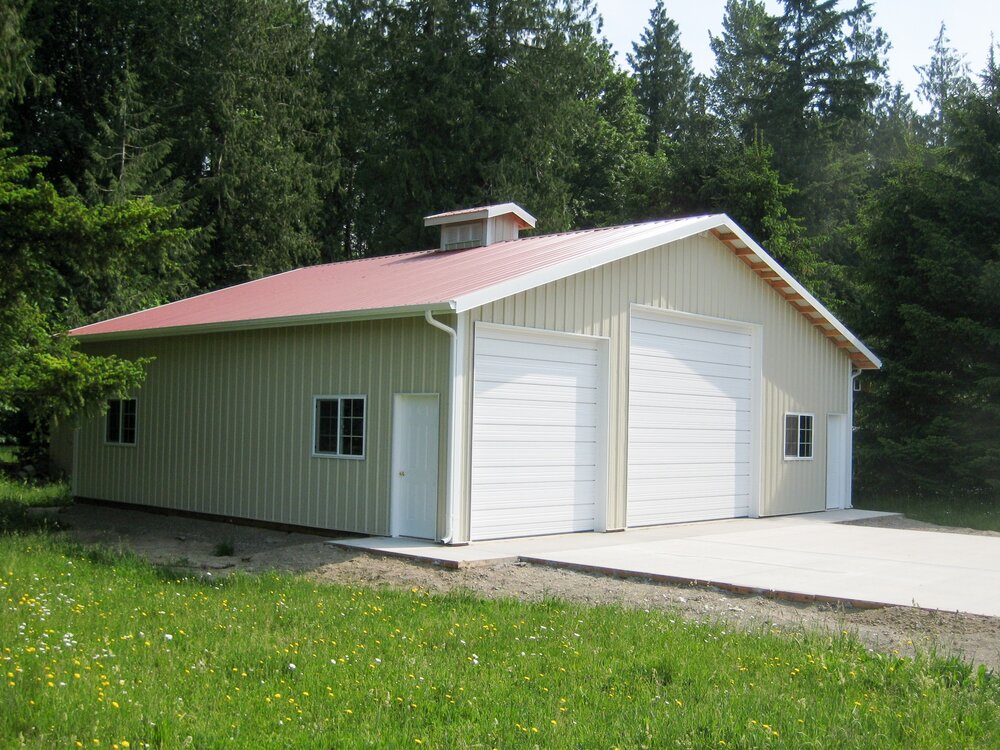 "40' x 36' x 11'-6"" Building with Cupola  Shop #8  Texmo Pole Building by Alvord-Richardson Construction.  Serving Whatcom, Skagit, San Juan and Island Counties since 1965.  Give us a call for your free estimate today!"