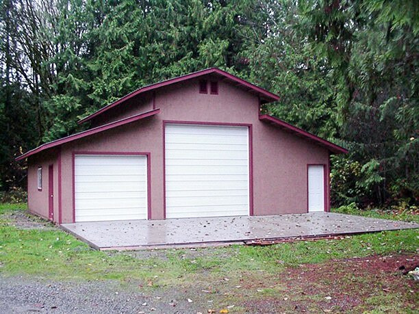 38' x 36' Raised Center Section Shop  Shop #16  Texmo Pole Building by Alvord-Richardson Construction.  Serving Whatcom, Skagit, San Juan and Island Counties since 1965.  Give us a call for your free estimate today!