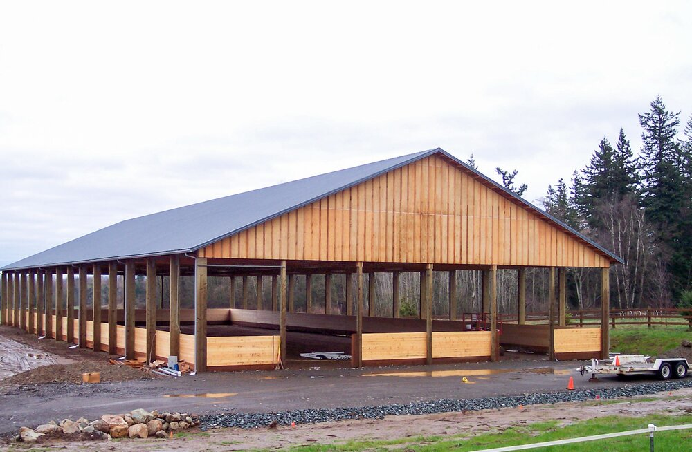 Barn #3  Texmo Pole Building by Alvord-Richardson Construction.  Serving Whatcom, Skagit, San Juan and Island Counties since 1965.  Give us a call for your free estimate today!