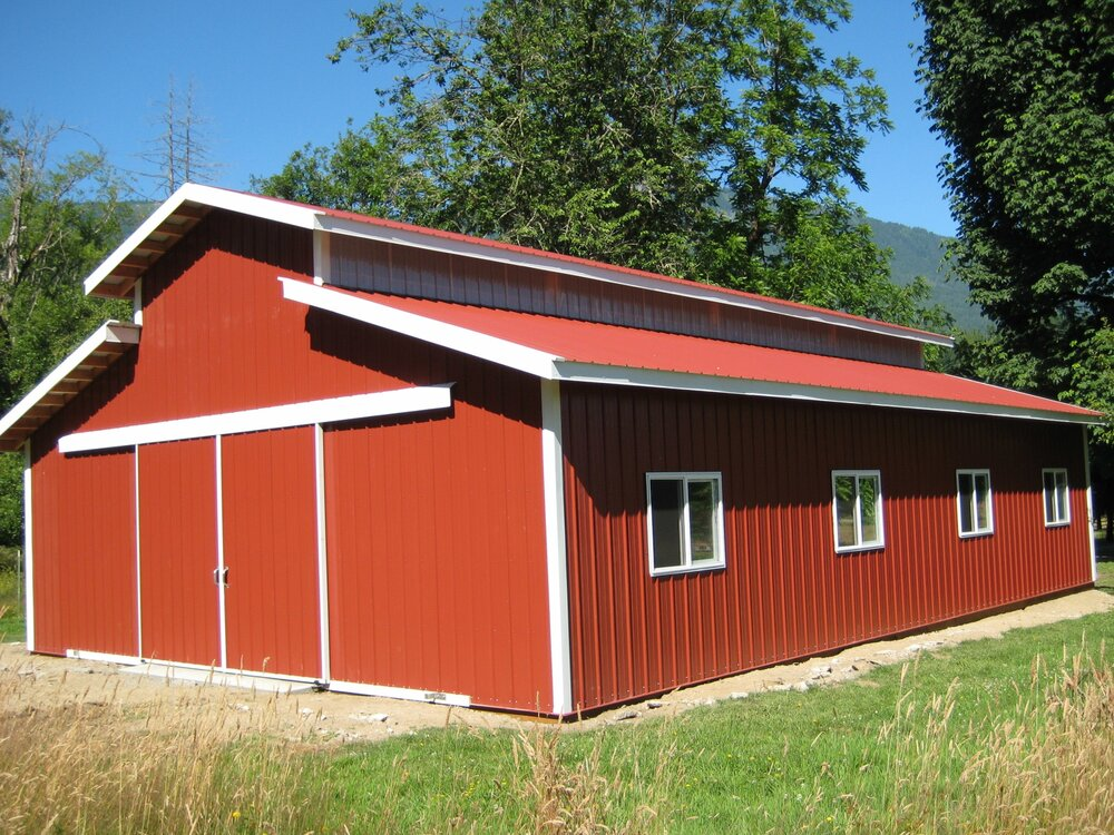 Barn #5  Texmo Pole Building by Alvord-Richardson Construction.  Serving Whatcom, Skagit, San Juan and Island Counties since 1965.  Give us a call for your free estimate today!