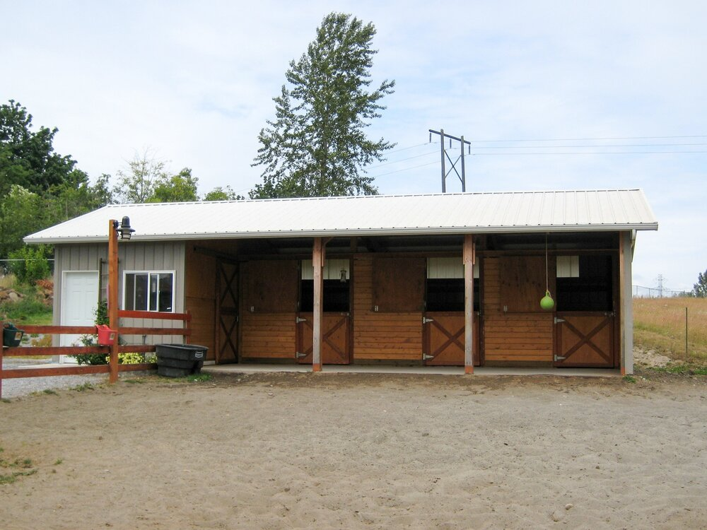 Barn #7  Texmo Pole Building by Alvord-Richardson Construction.  Serving Whatcom, Skagit, San Juan and Island Counties since 1965.  Give us a call for your free estimate today!