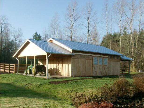 Barn #11  Texmo Pole Building by Alvord-Richardson Construction.  Serving Whatcom, Skagit, San Juan and Island Counties since 1965.  Give us a call for your free estimate today!