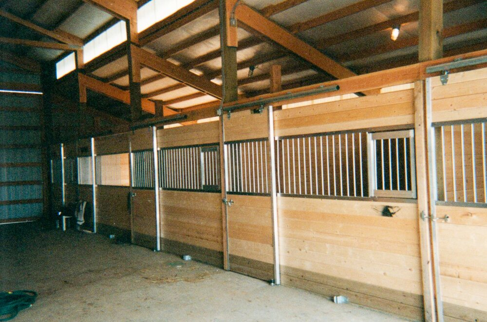Stalls #12  Texmo Pole Building by Alvord-Richardson Construction.  Serving Whatcom, Skagit, San Juan and Island Counties since 1965.  Give us a call for your free estimate today!