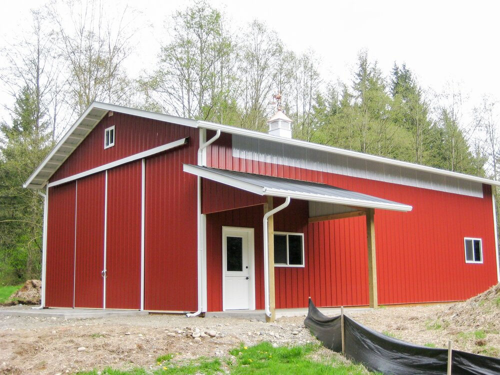 Barn #16  Texmo Pole Building by Alvord-Richardson Construction.  Serving Whatcom, Skagit, San Juan and Island Counties since 1965.  Give us a call for your free estimate today!