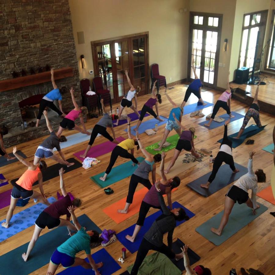 Cumberland's recent yoga event