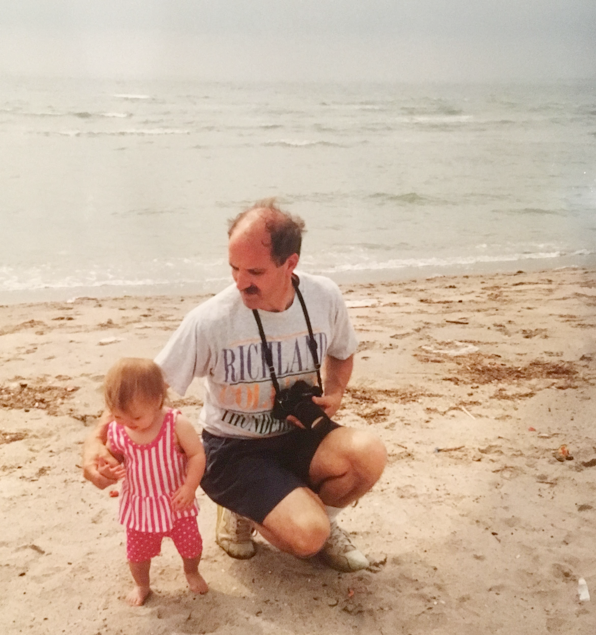 Liz with her dad in Cape Cod (the first trip where it was just the two of them!)