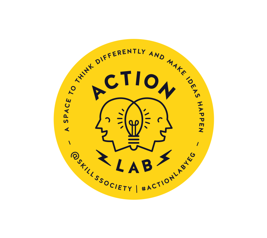 ACTION LAB:   A space to think differently and make ideas happen.      Prototyping + Human Centred Design + Social Enterprise + Social Lab Processes       #actionlab  #yeg