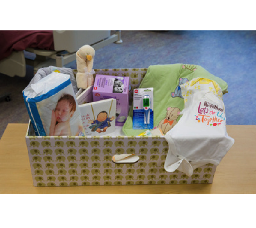 WELCOME TO PARENTHOOD:   Linking parents to parenting supports, mentors, and other vital resources through the provision of a Baby Box.     Integrated Service Delivery + Policy Partnerships + Systems Thinking       #born2thrive  #yyc