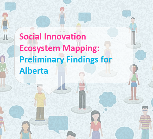 mid'14-sept 2015    Social Innovation Ecosystem Mapping:    Preliminary Findings for Alberta  released.    Co-facilitated by the Government of Alberta's Social Innovation Team and the CoLab, located within Alberta Energy