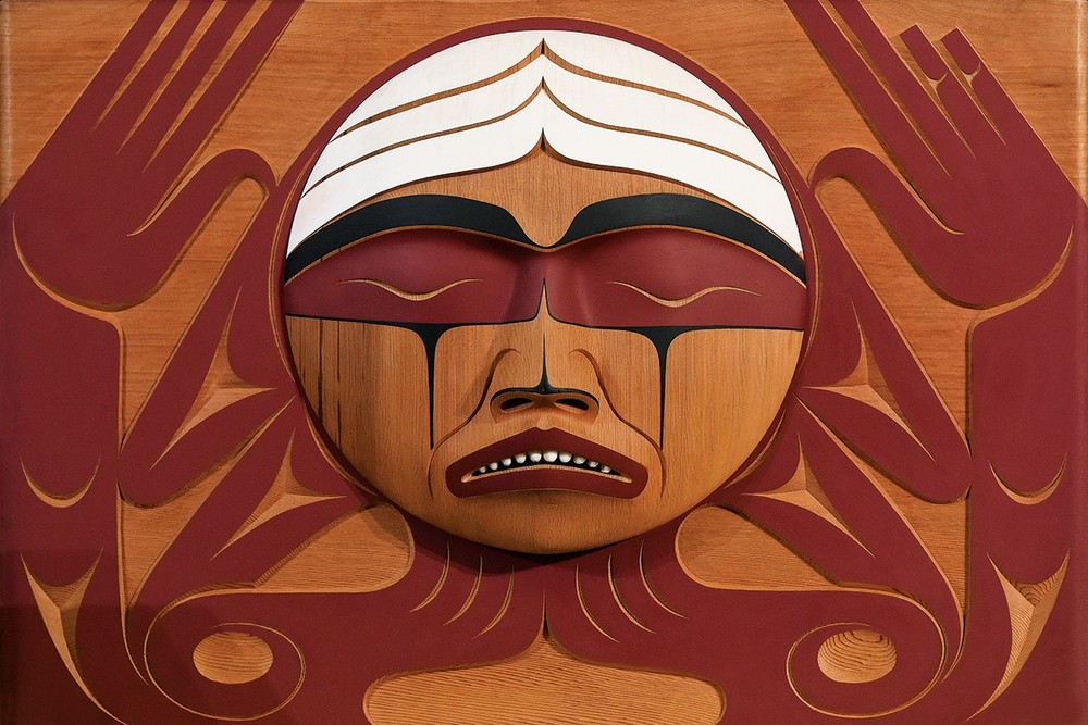 The TRC Bentwood Box: Carved by Coast Salish Artist Luke Marston.  Photo from University of Manitoba Today .
