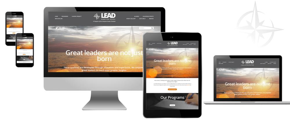 LEAD Hampton Roads responsive website