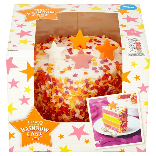 Tesco's Rainbow Sponge Cake  - although this is colourful inside it is not too overpowering with colour. If you do pick this cake though, be sure to match the decorations and theme of the shoot to the colours of the cake.