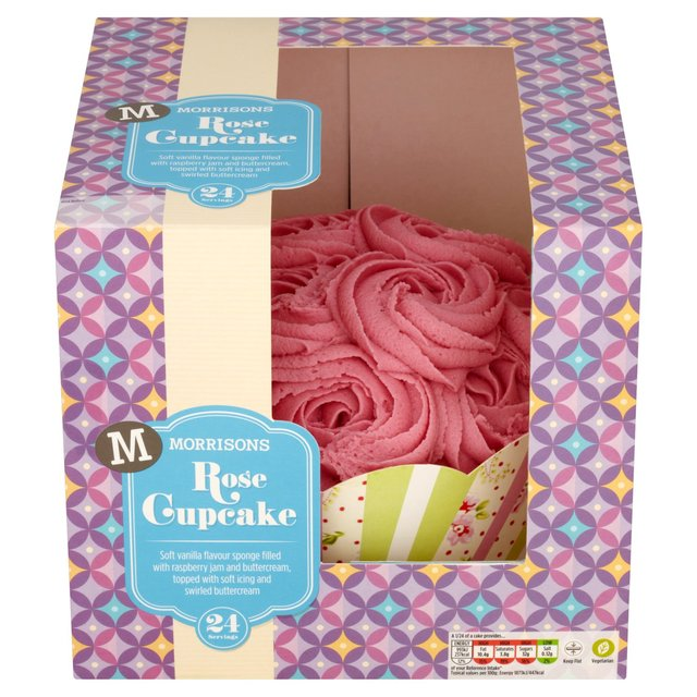 Morrison's Rose Celebration Cupcake  another winner from Morrisons, buttercream covered sponge with a raspberry jam filling.
