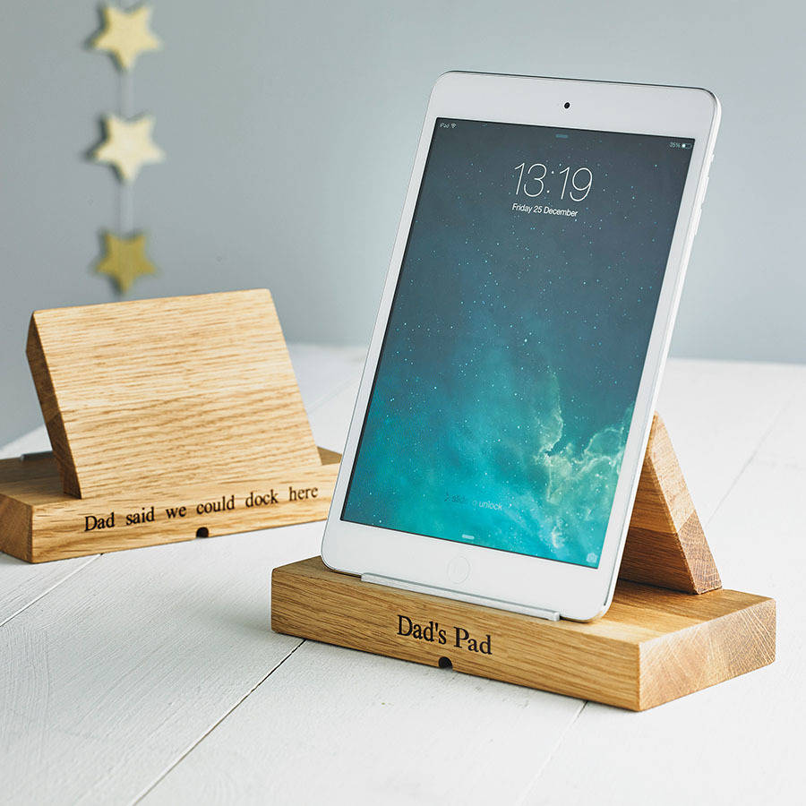 Personalised tablet stand - Practical and thoughtful.