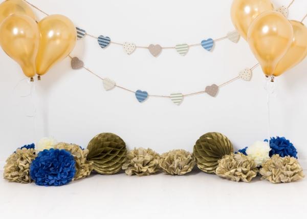 gold and blue unisex cakesmash theme