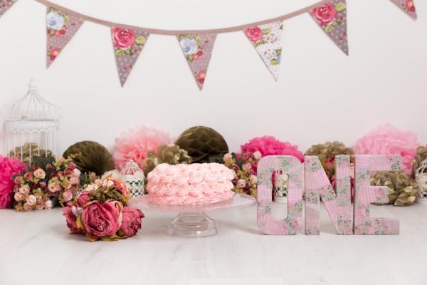 flower birdcage vintage pink cake smash