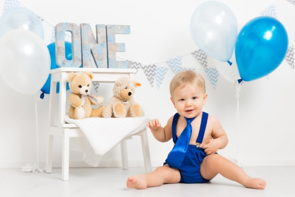 baby boy blue birthday cakesmash